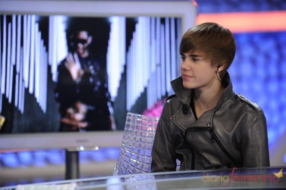 Justin Bieber feliz en 'El Hormiguero'