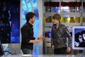 Justin Bieber se hace el gracioso con Pablo Motos