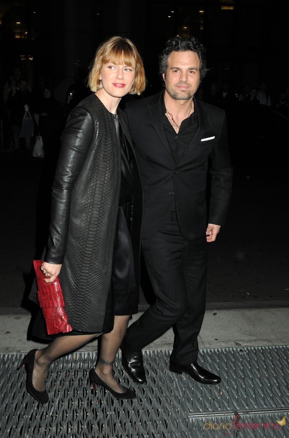 Mark Ruffalo y Sunrise Coigney en los premios Gotham 2010