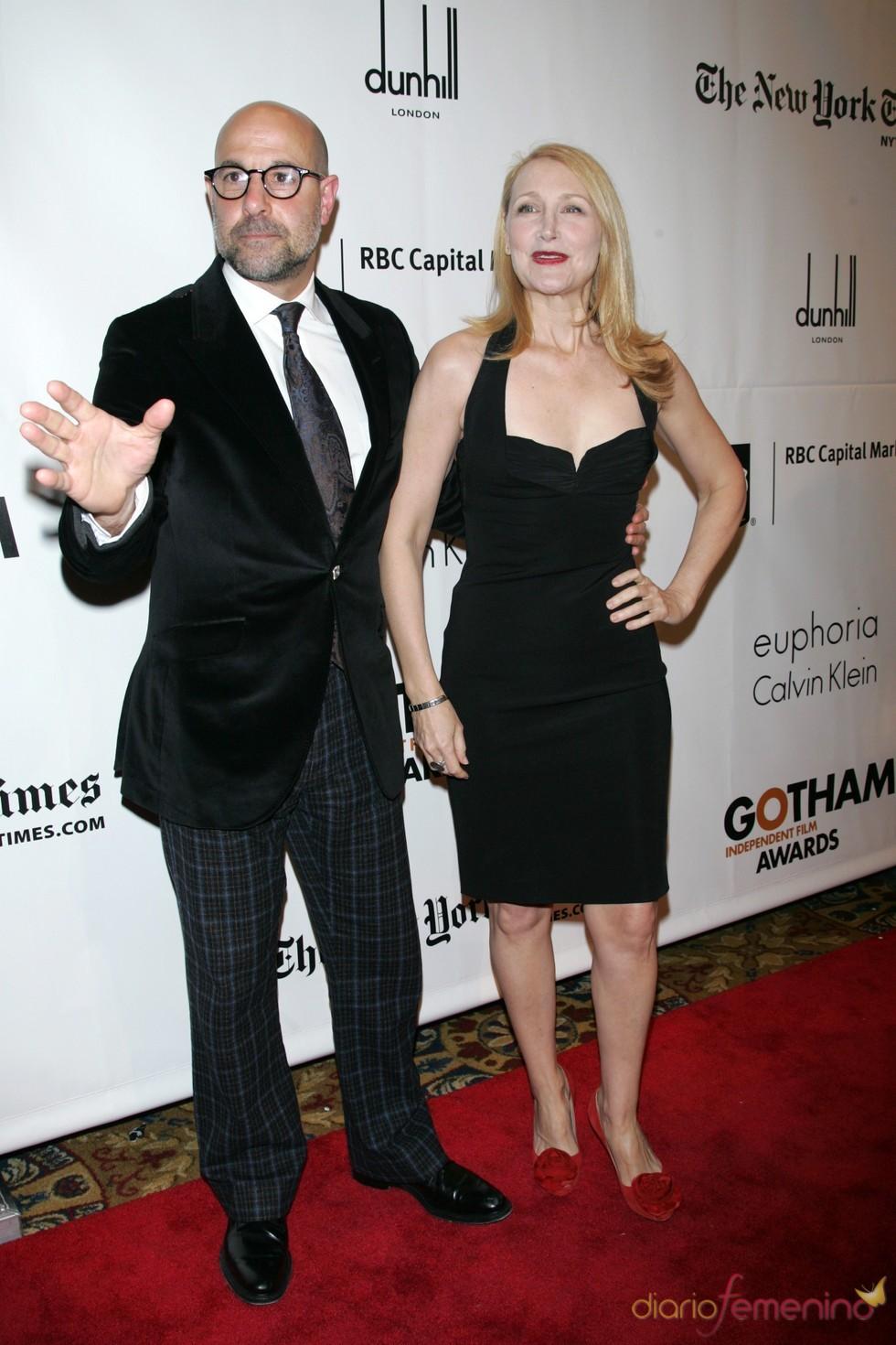 Stanley Tucci y Patricia Clarkson en los premios Gotham 2010