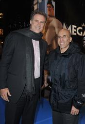 Will Ferrell y Jeffrey Katzenberg en el estreno de 'Megamind'