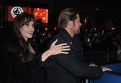 Brad Pitt y Angelina Jolie, muy unidos en el estreno de 'Megamind'