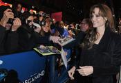 Angelina Jolie, aclamada en el estreno de 'Megamind'