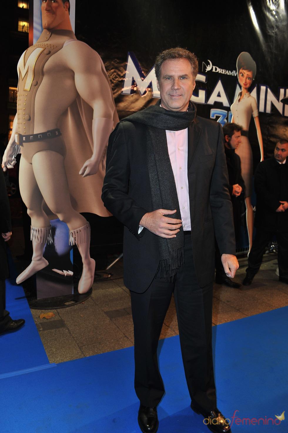 Will Ferrell en el estreno de 'Megamind' en París