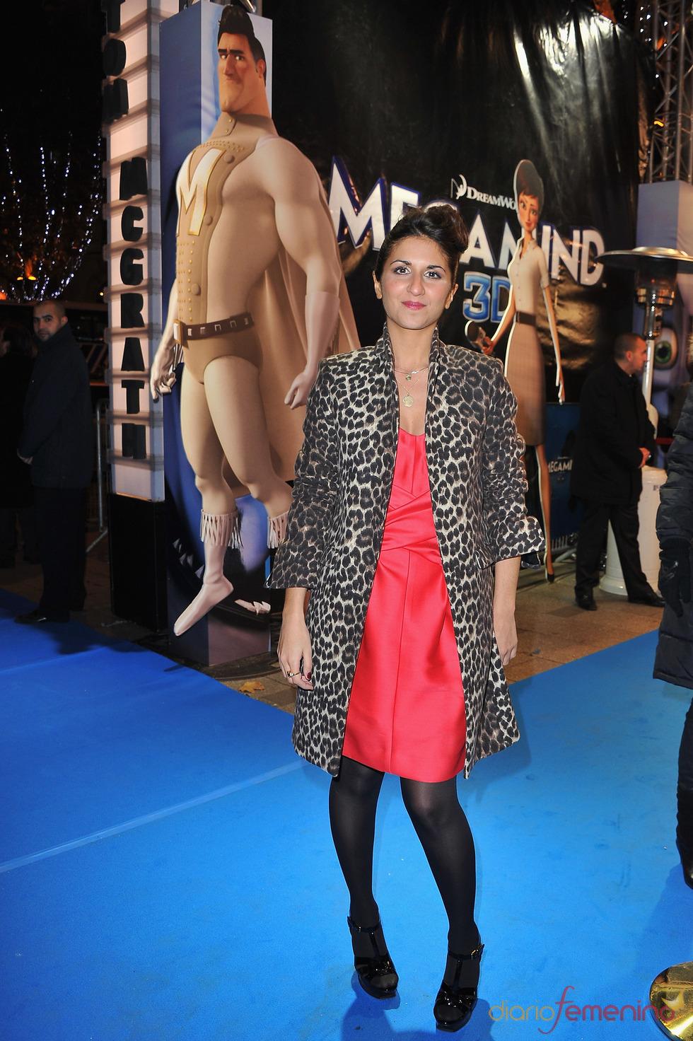 Geraldine Nakache en el estreno de 'Megamind' en París