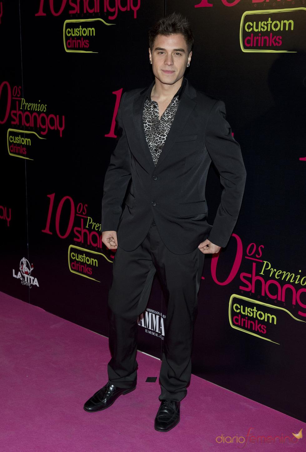 Adrián Rodríguez en los Premios Shangay 2010