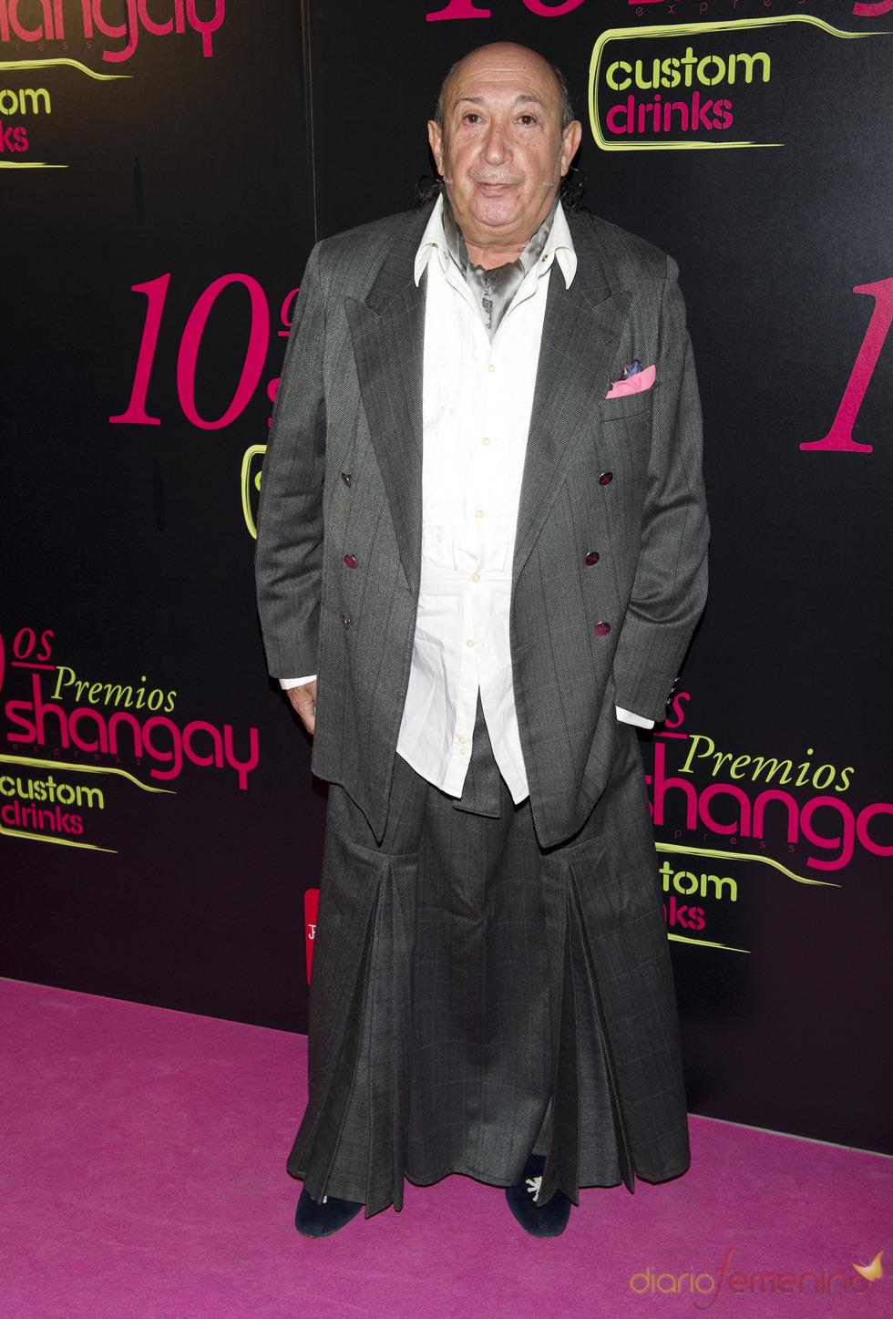 Francis Montesinos en los Premios Shangay 2010
