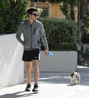 Joe Jonas con su mascota