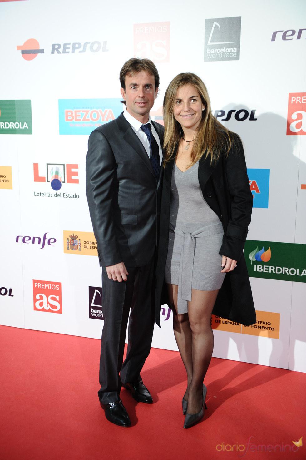Arantxa Sanchez Vicario y su marido en los premios As del Deporte 2010