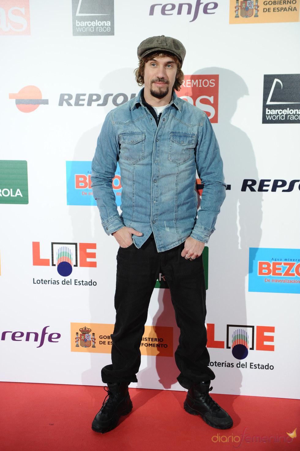 El cantante Macaco durante los Premios As del Deporte 2010