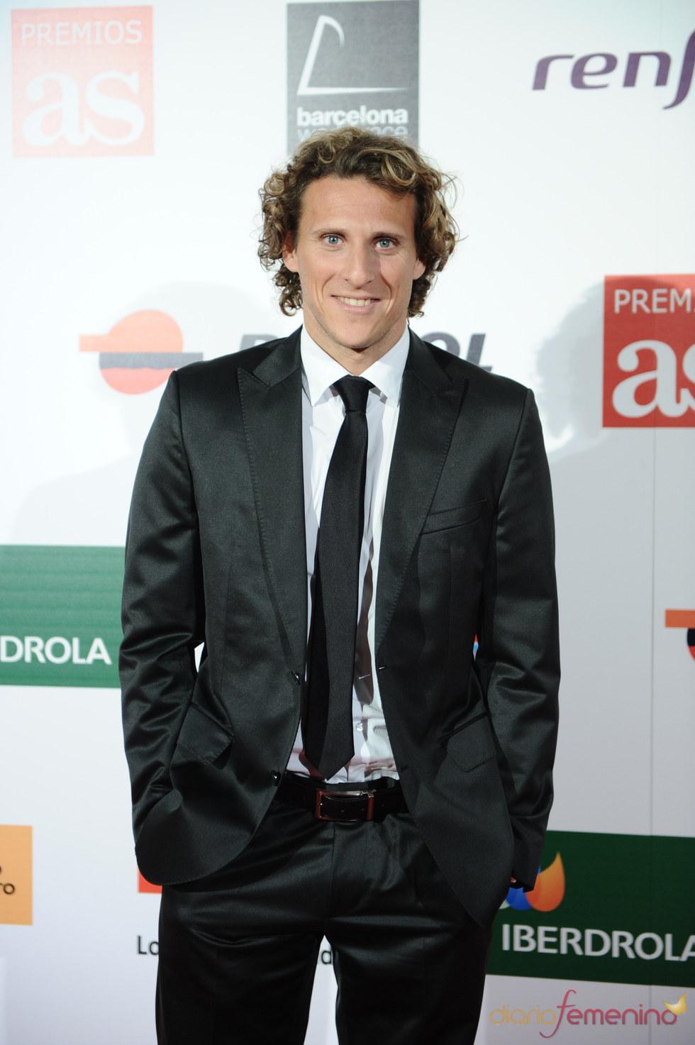 Diego Forlán en los Premios As del Deporte 2010