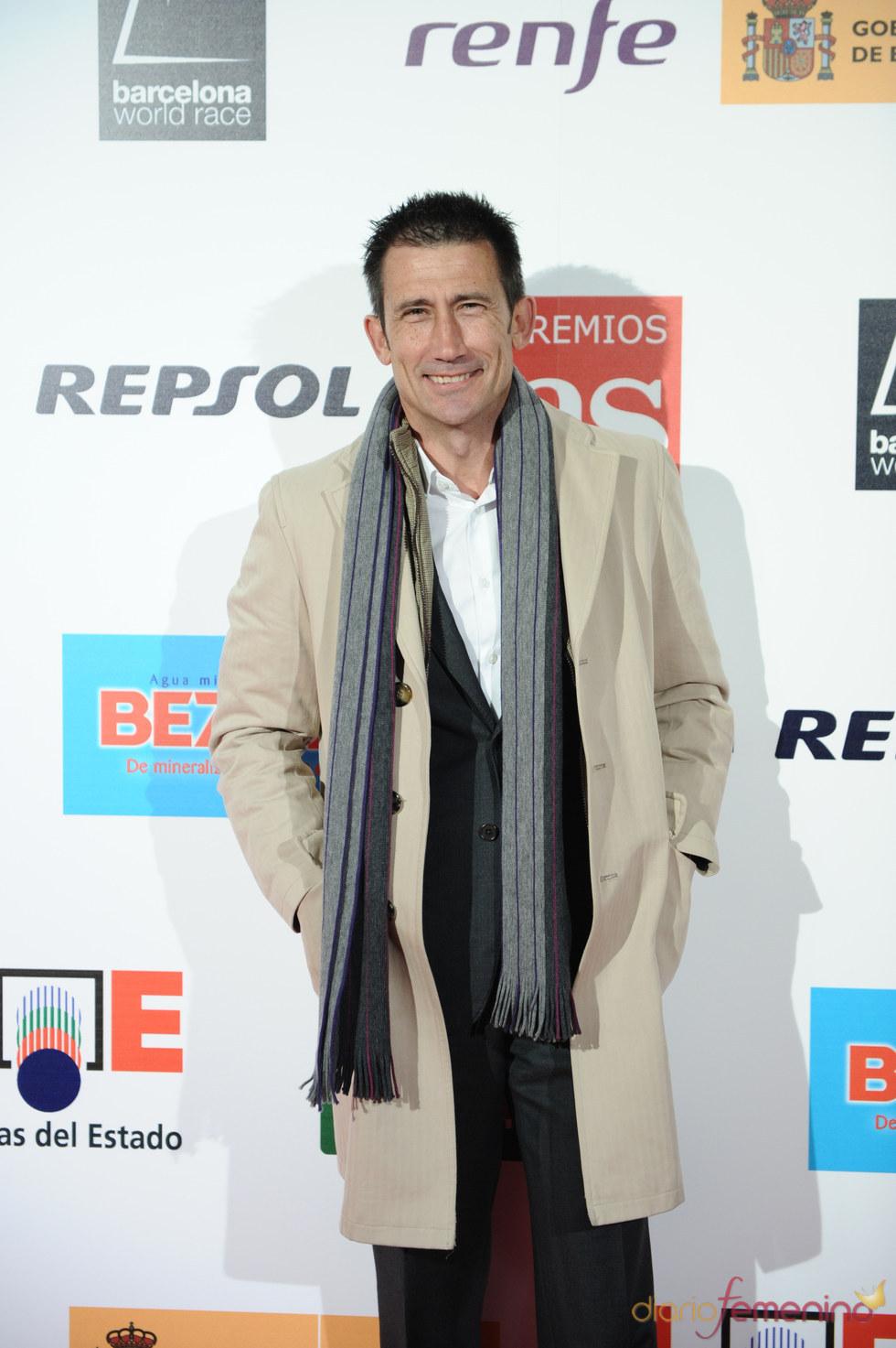 El periodista Carlos Martínez en los Premios As del Deporte 2010