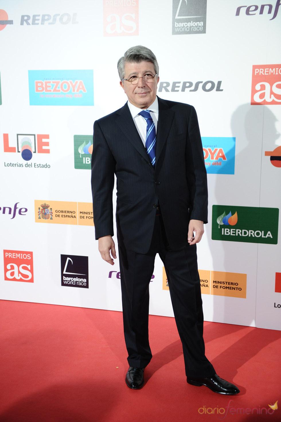 Enrique Cerezo durante los Premios As del Deporte 2010