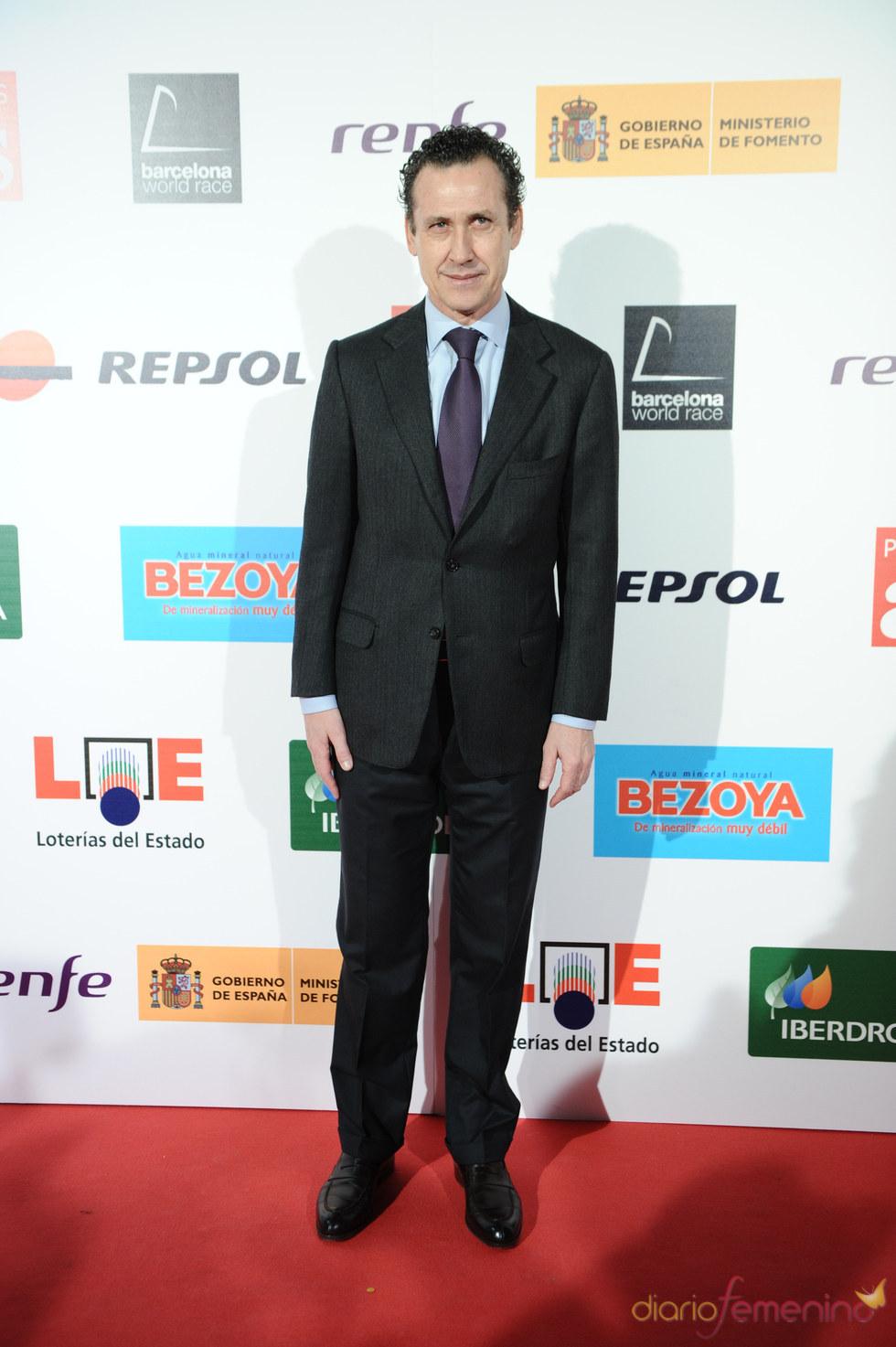 El ex-futbolista y entrenador Jorge Valdano en los Premios As del Deporte 2010