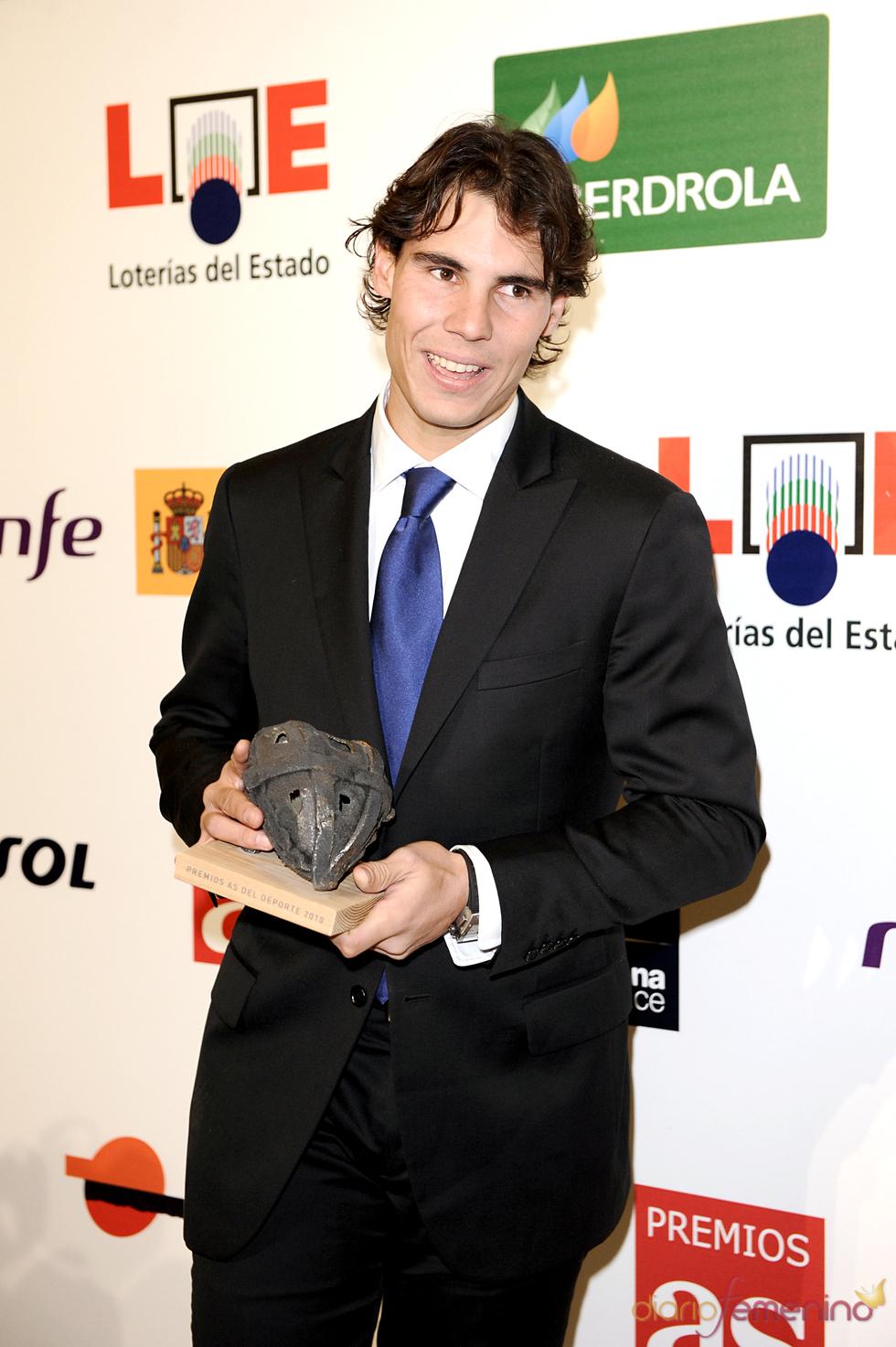 Rafa Nadal en los Premios As del Deporte 2010