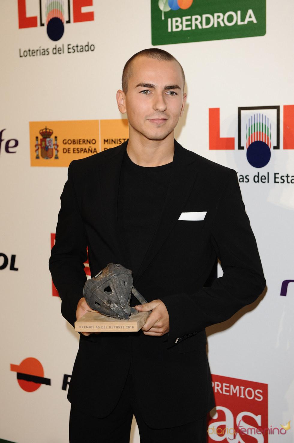 Jorge Lorenzo en los Premios As del Deporte 2010