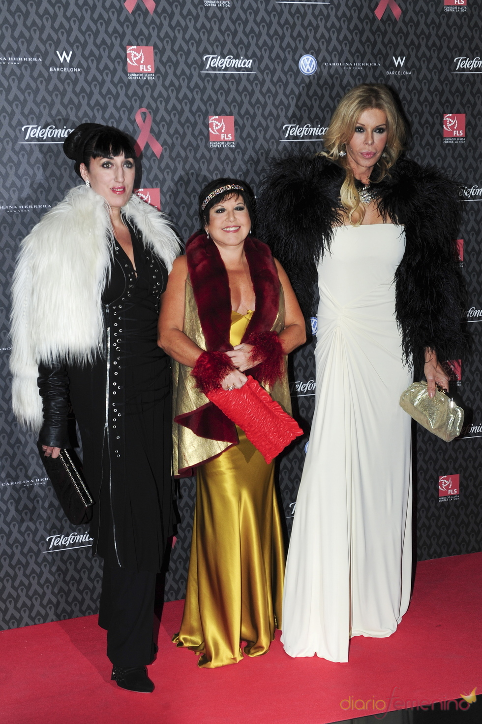 Tres divas en la gala contra el Sida 2010