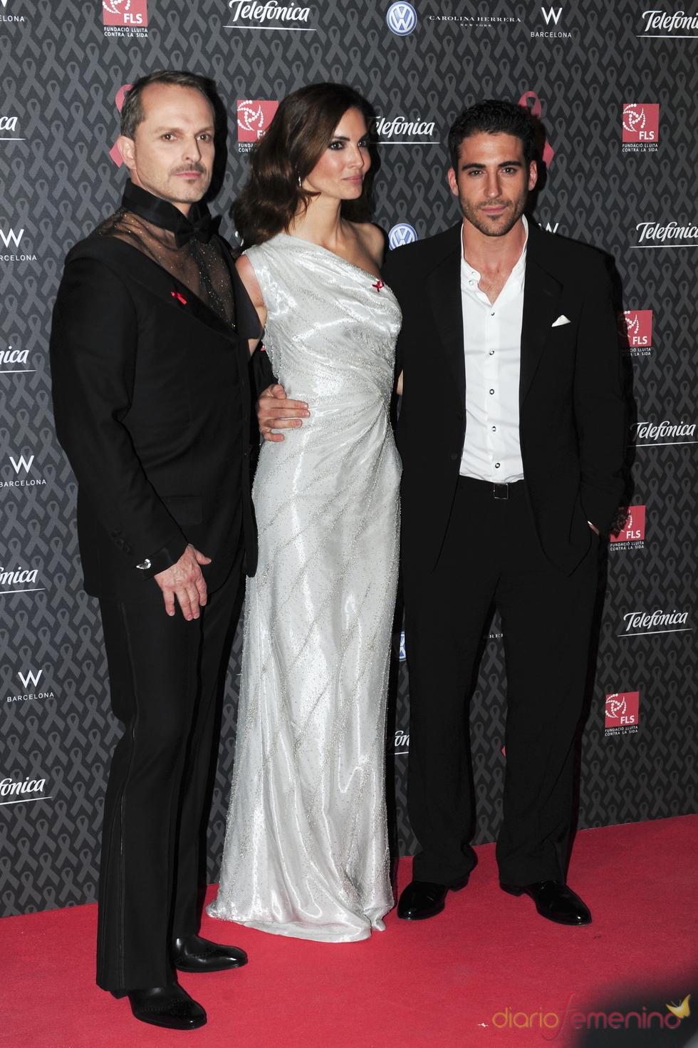 Miguel Bosé, Eugenia Silva y Miguel Ángel Silvestre