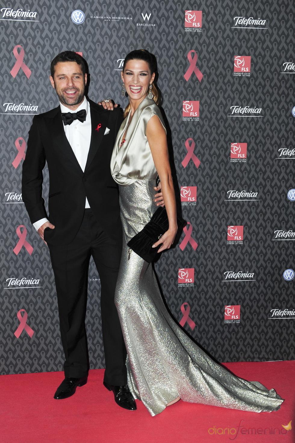 Laura Sánchez y David Ascanio en la gala contra el Sida 2010