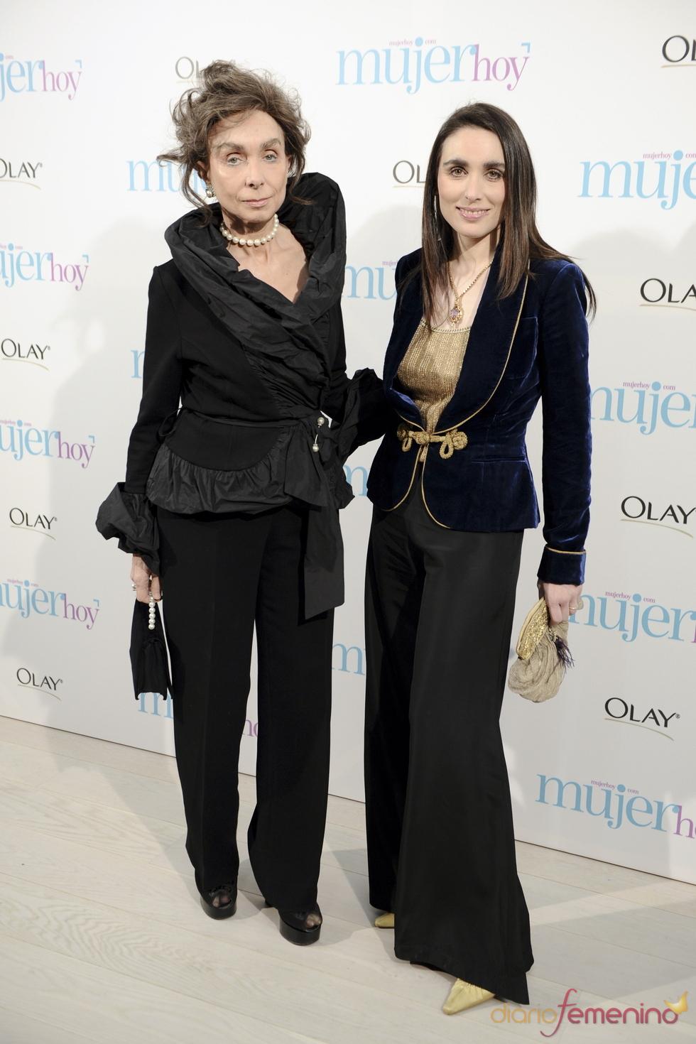 Paloma Segrelles y su hija en los Premios Mujer Hoy 2010