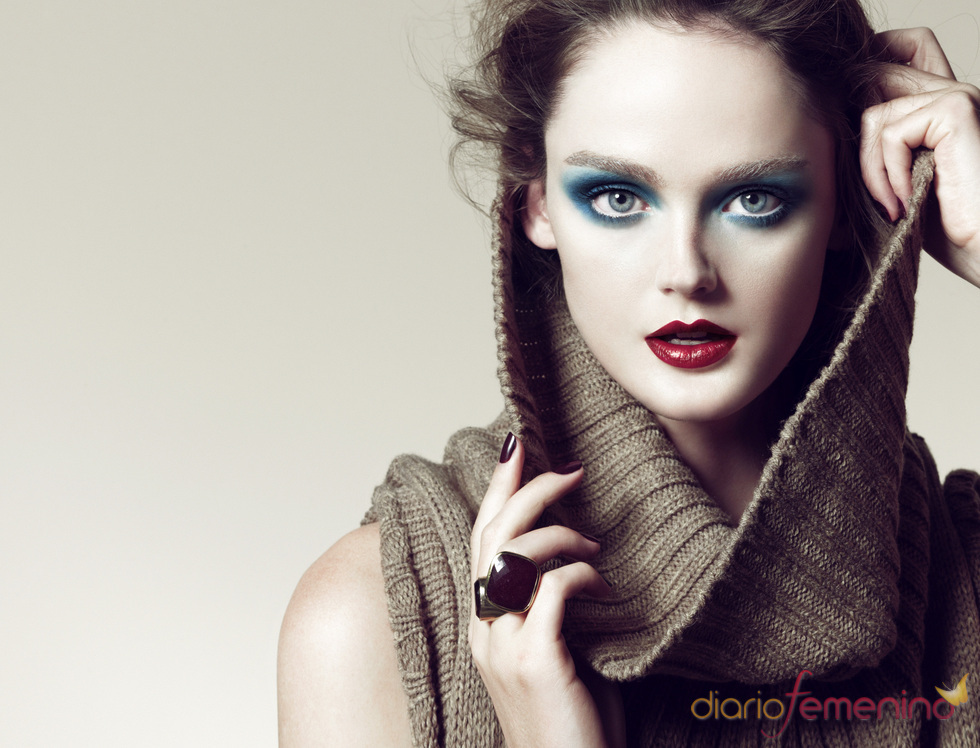 Tonos azules en la nueva línea de maquillaje de Blanco