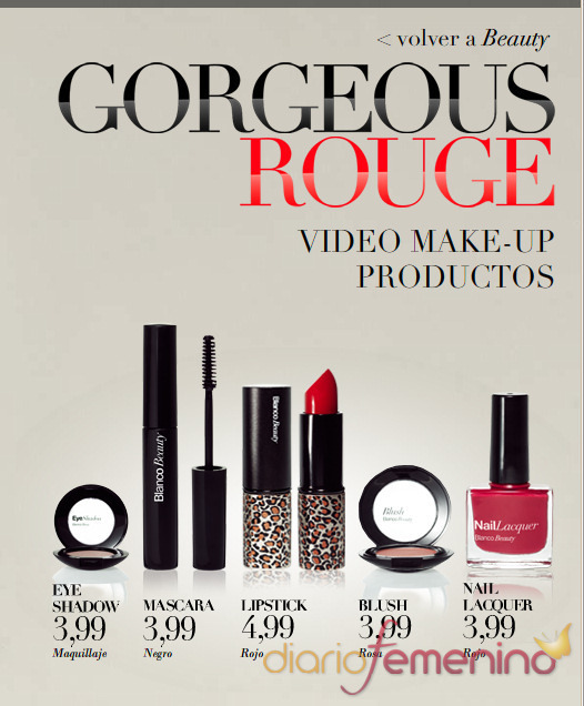 Gama Gorgeous Rouge de maquillaje Blanco