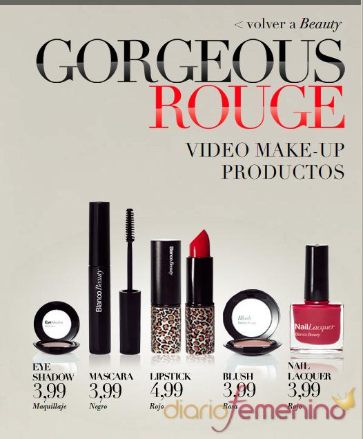 Gama Gorgeous Rouge de maquillaje Blanco