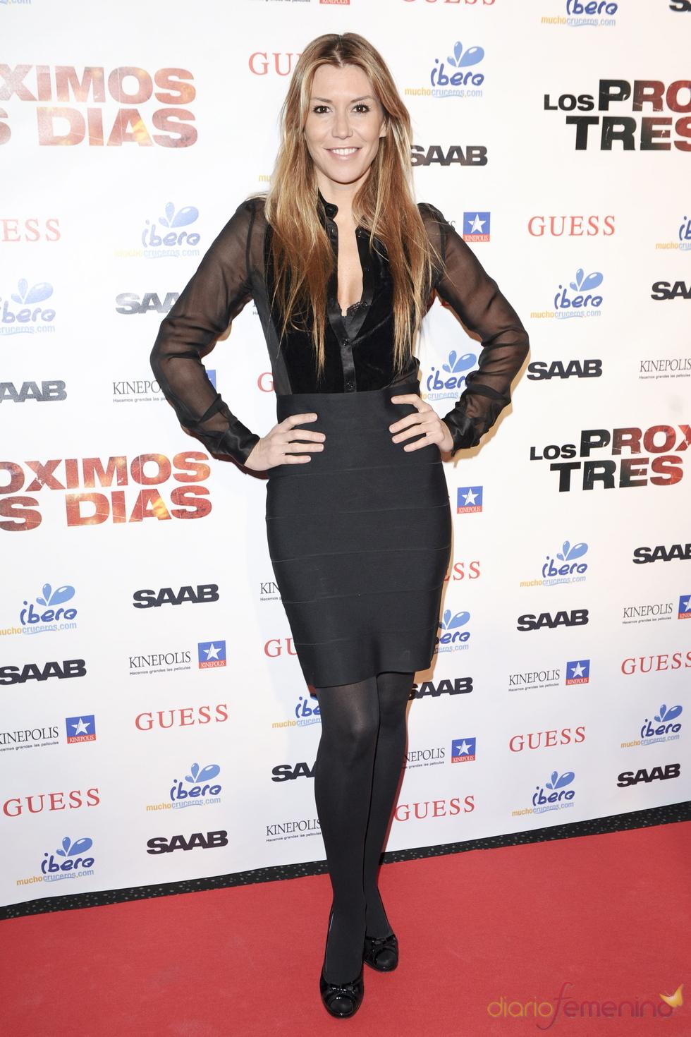 Raquel Meroño en la premiere de 'Los próximos tres días'