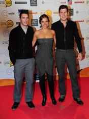 Ana Ruiz posa junto a Andy y Lucas