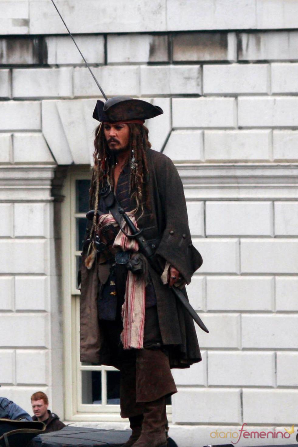Johnny Depp en 'Piratas del Caribe 4'