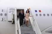 Carla Bruni y Nicolás Sarkozy llegan a la India