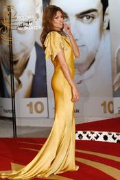 Eva Mendes se decanta por el amarillo en el Festival de Cine de Marrakech