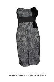Vestido encaje lazo de Barbarella 142€