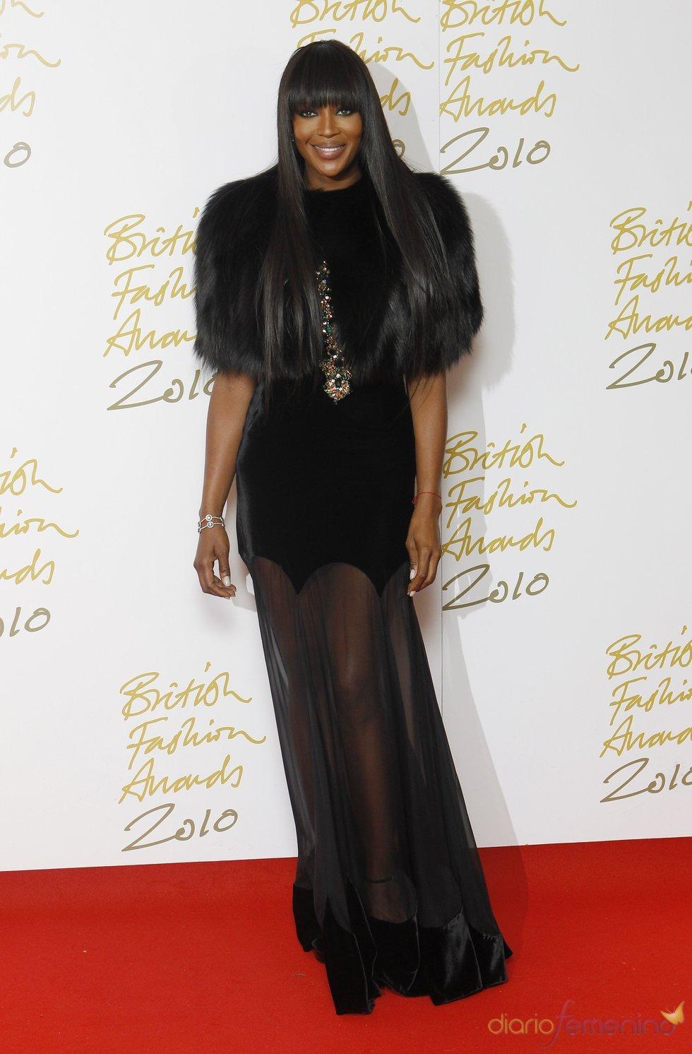 Naomi Campbell en la gala de los Premios British Fashion