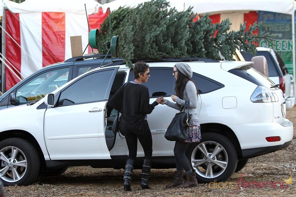 Halle Berry compra un árbol de Navidad gigante