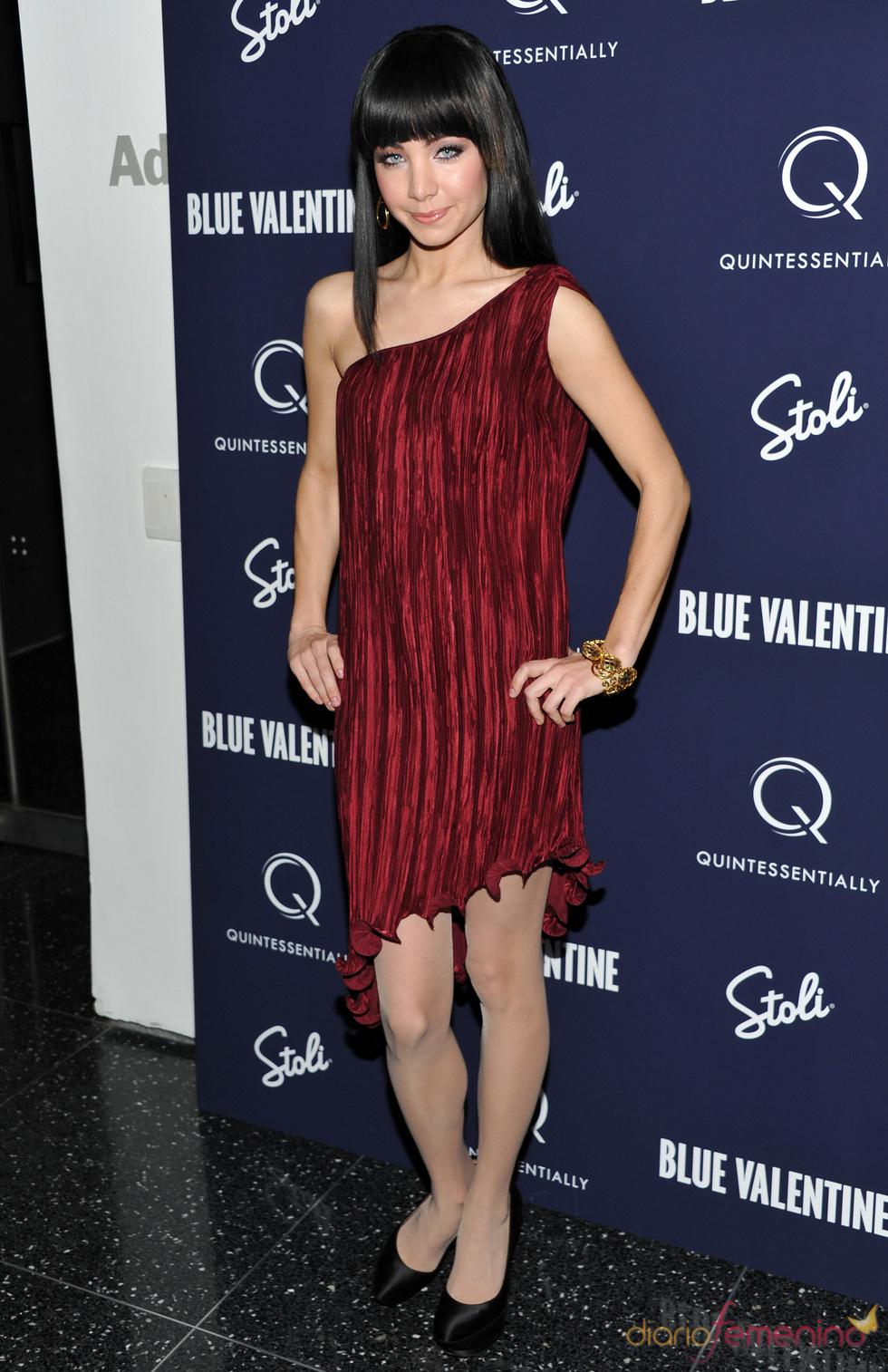 Ksenia Solo en la presentación de 'Blue Valentine'