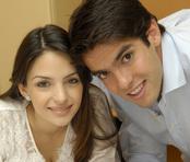 Kaká y su mujer Carolina Celico