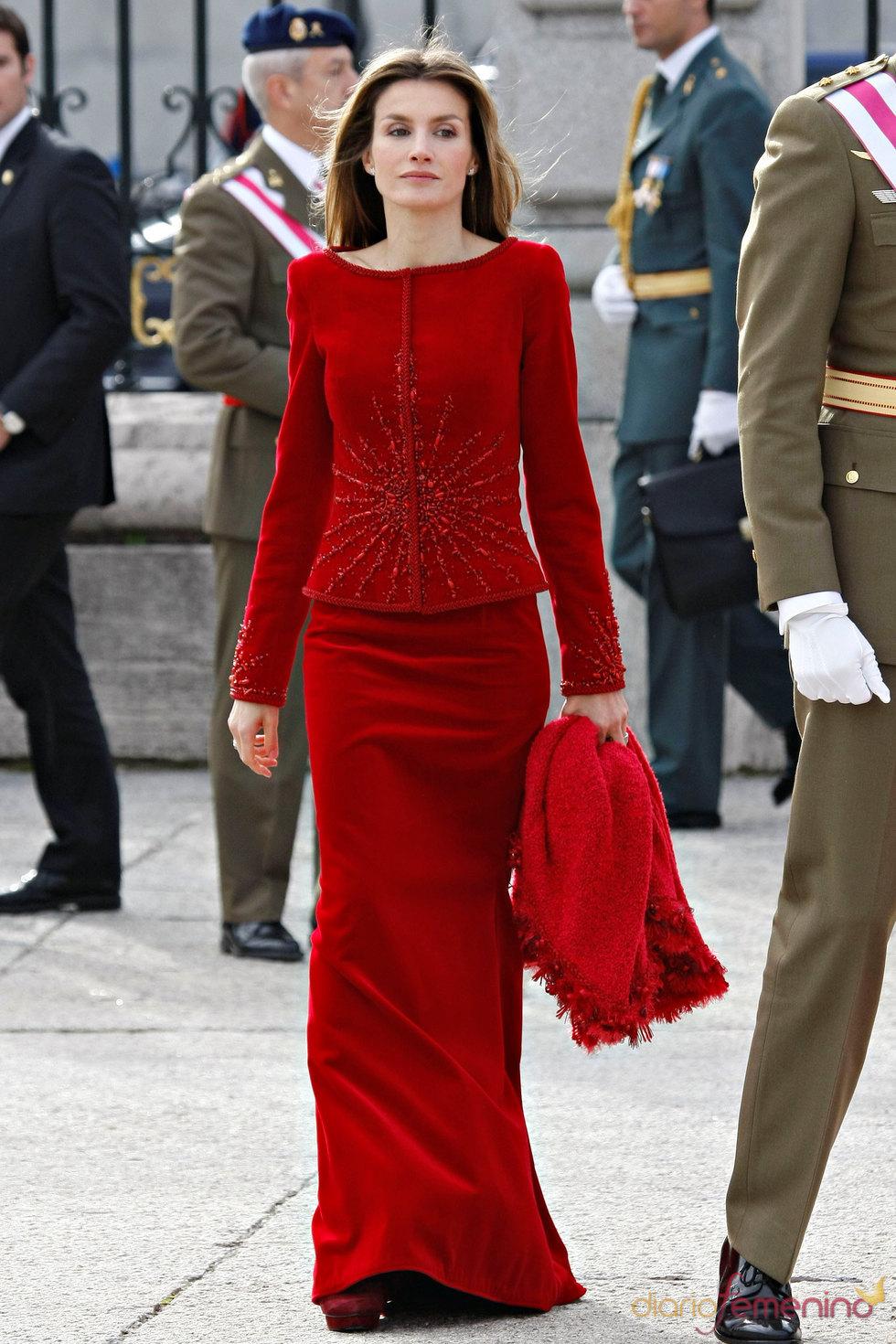 Letizia Ortiz en la Pascua Militar 2010