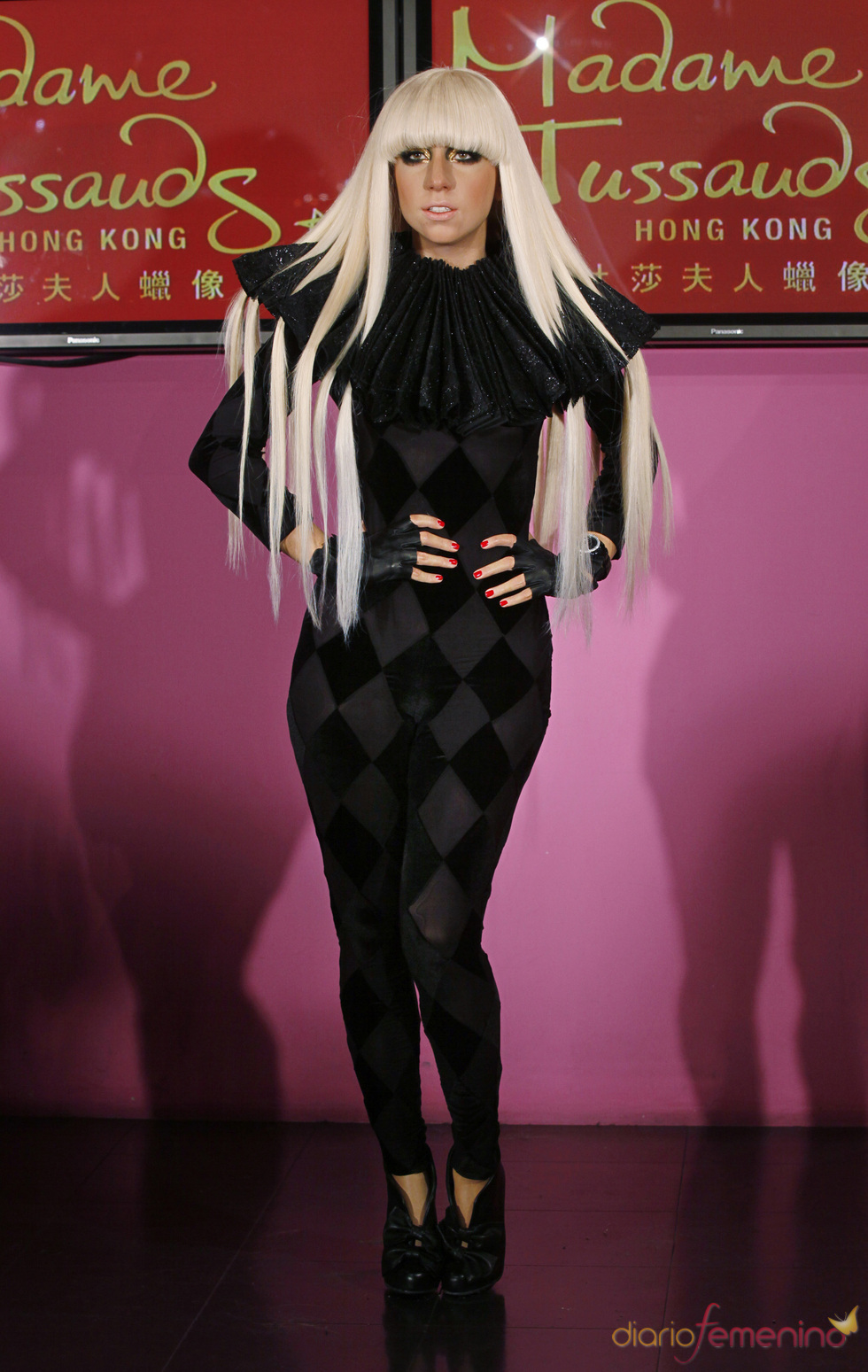 Figura de cera de Lady Gaga en Hong Kong