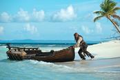 El capitán Jack Sparrow en Piratas del Caribe IV