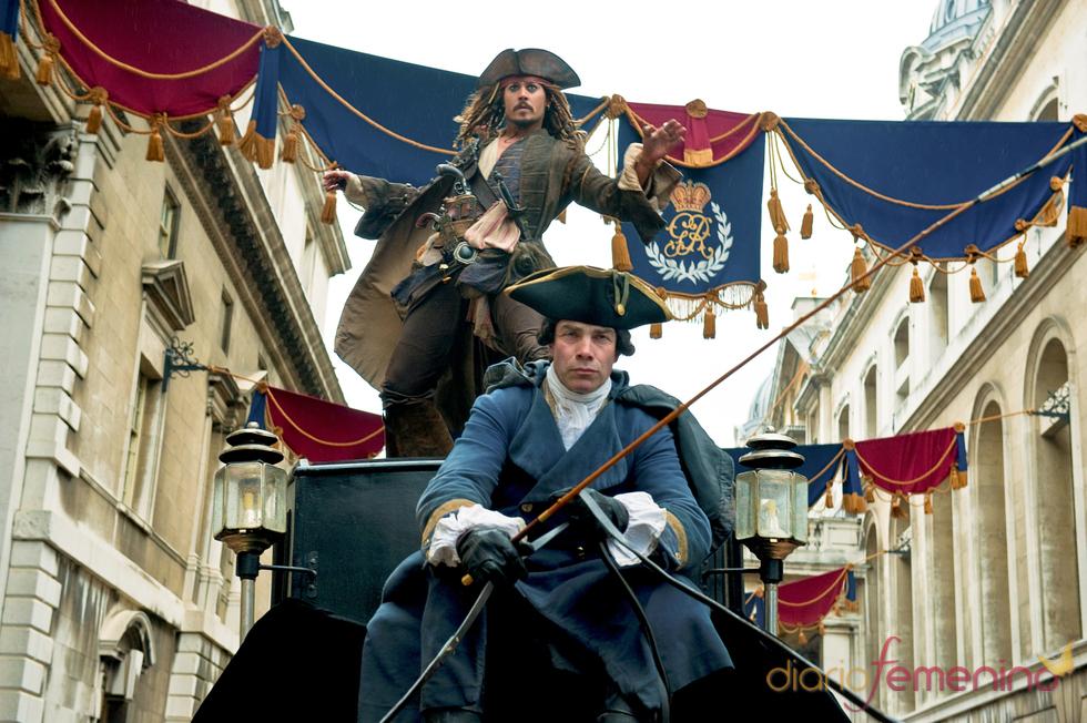 Johnny Depp en Piratas del Caribe IV