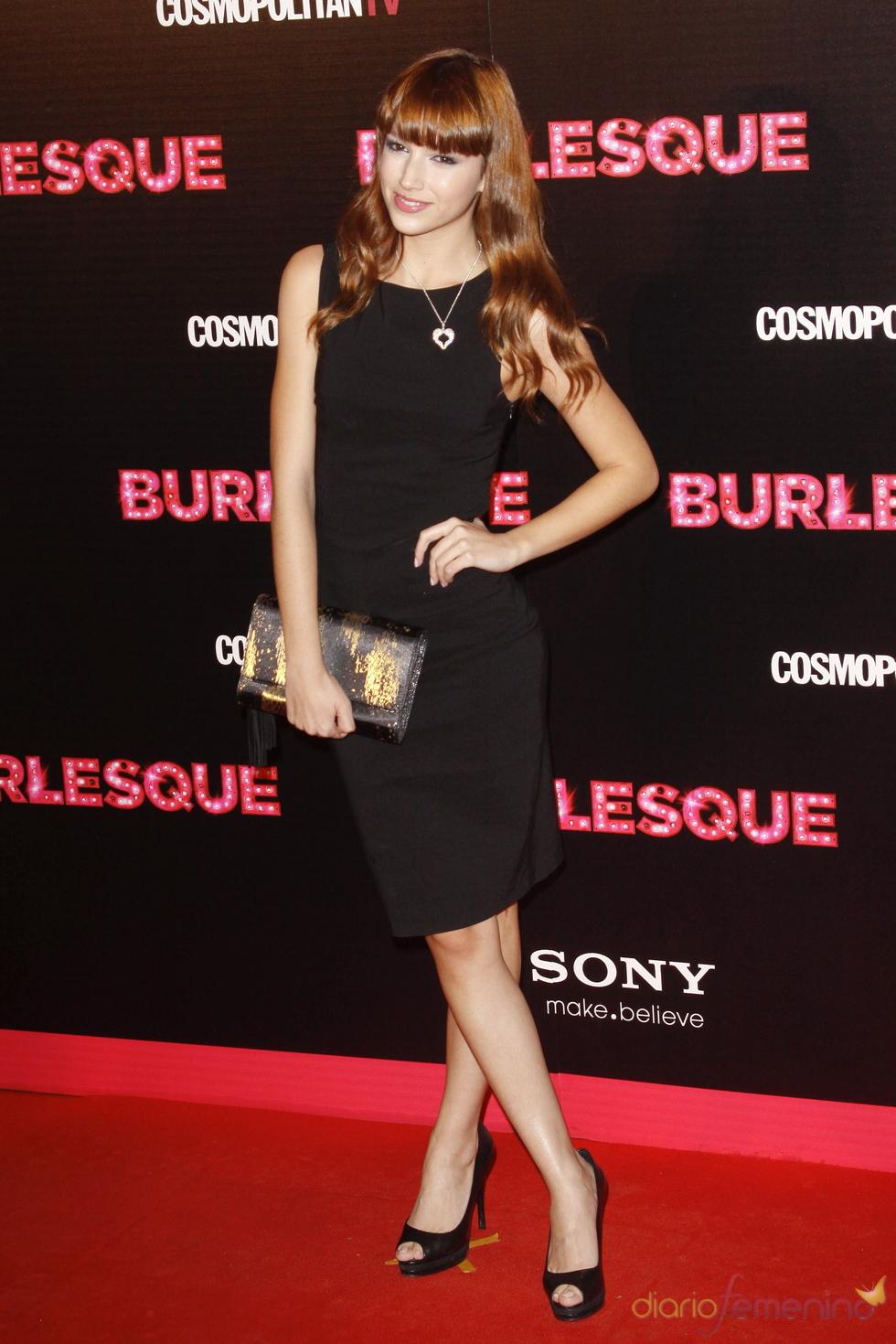 Úrsula Corberó en la premiere de 'Burlesque' en Madrid