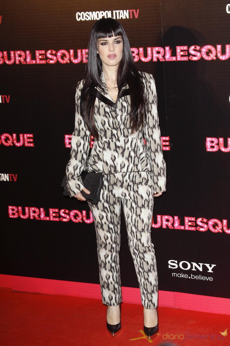 Sara Vega en la presentación en Madrid de 'Burlesque'