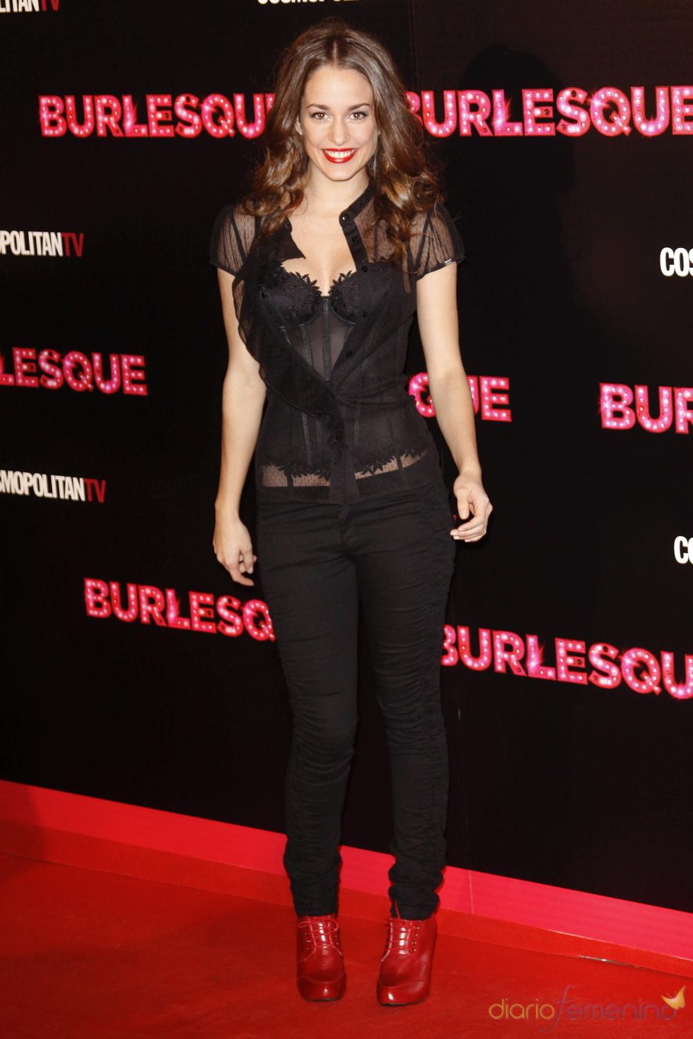 Silvia Alonso acudió a la presentación de 'Burlesque' en Madrid