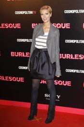 Cristina Urgel en la premiere de 'Burlesque' en Madrid