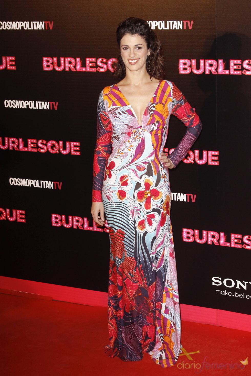 Ruth Gabriel no quiso perderse la presentación de'Burlesque' en Madrid