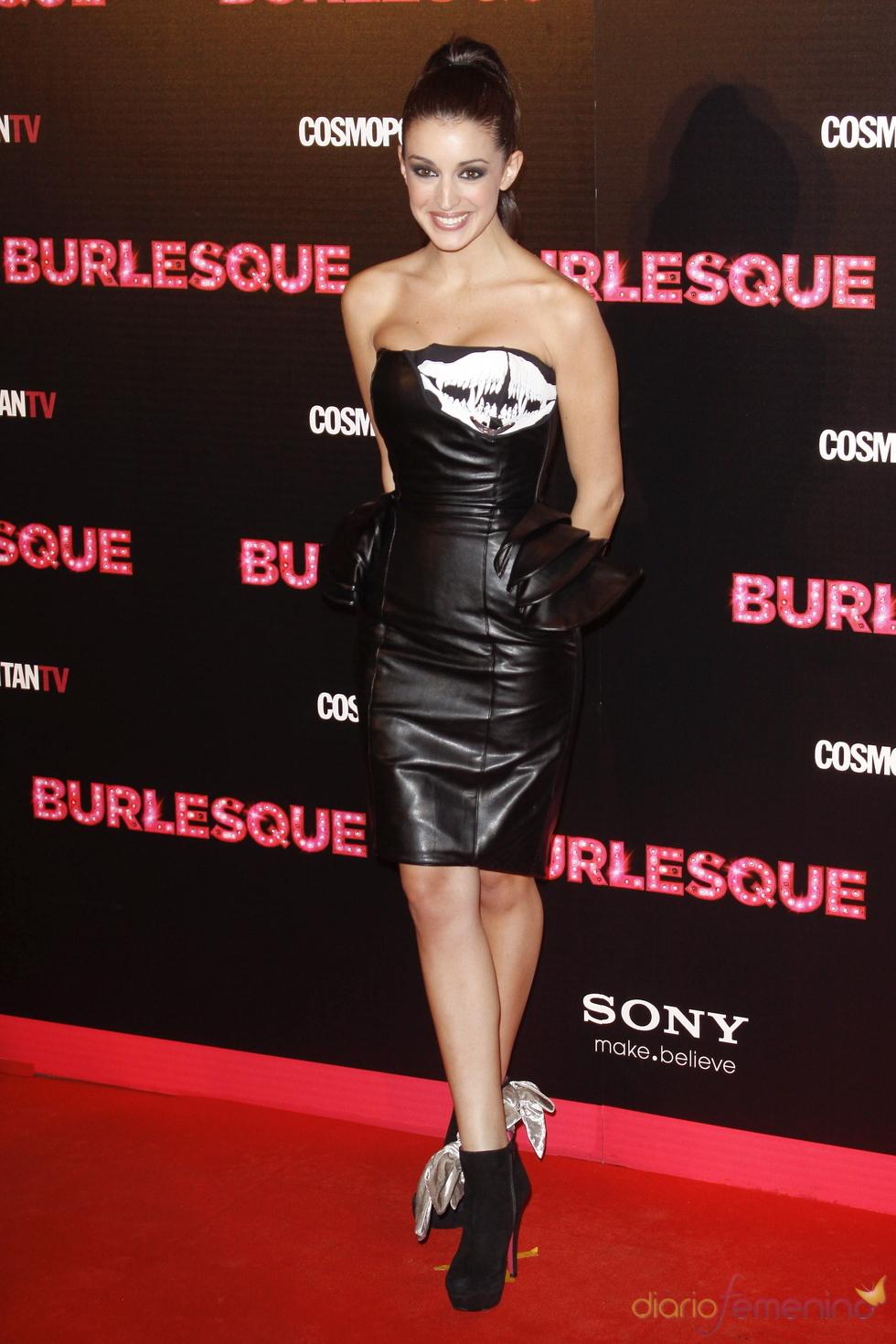 Noelia López e la premiere de 'Burlesque' en Madrid