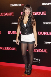 Cristina Pedroche acudió a la premiere de 'Burlesque' en Madrid