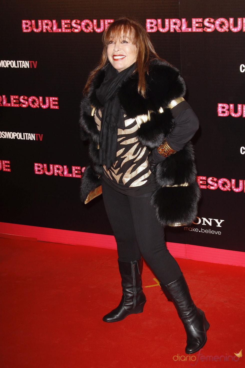 Massiel acudio a la premiere del musical 'Burlesque' en Madrid