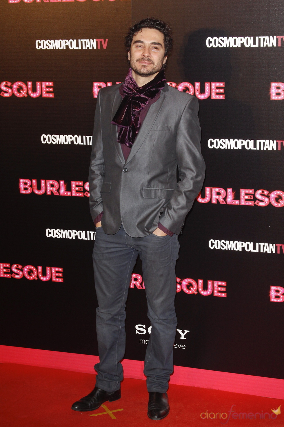 Jose Manuel Seda en la premiere de 'Burlesque' en Madrid